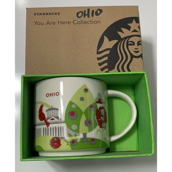"""Starbucks """"You Are Here"""" Collection Ohio Retired"""